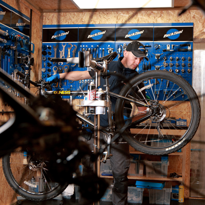 cycle service north east - workshop close up