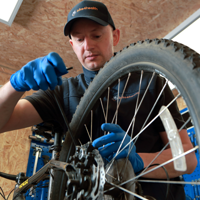 bicycle service north east - workshop close up